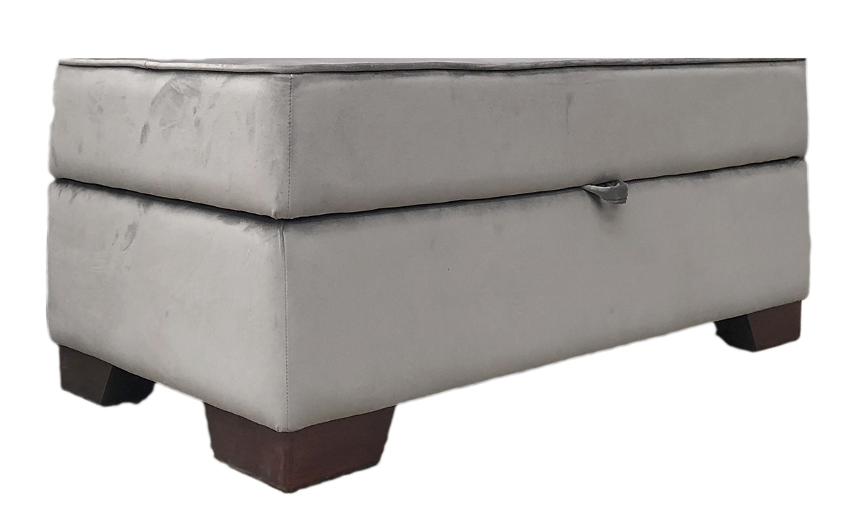 Othello Storage Footstool Side - Bespoke Size 1 metre Long - Luxor Dolphin