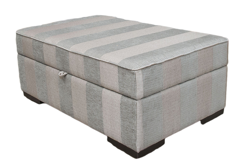 Storage Imperial Footstool-Nebbiolo-Stripe-Powder-Platinum-Collection