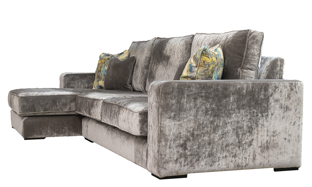 Antonio 3 Seater Lounger in Boulder Silver, Platinium Collection Fabric - 405551