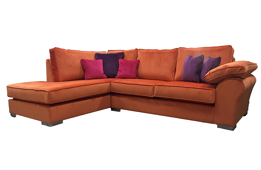Atlas  Chaise Sofa in Discontinued Fabric