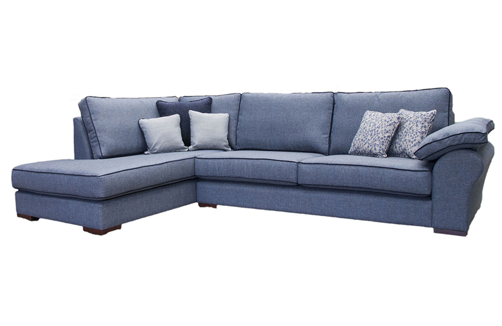 Atlas Chaise Sofa  in Ado Marine, Bronze Fabric Collection
