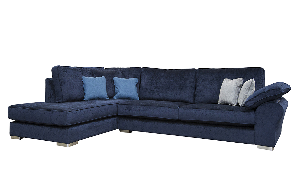 Atlas Chaise Sofa in Edinburgh Carbon, Silver Collection Fabric