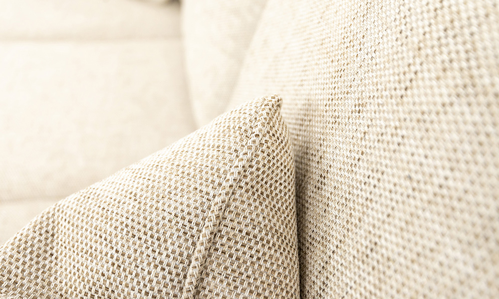 Scatter Cushion in Bravo Sand, Silver Collection Fabric