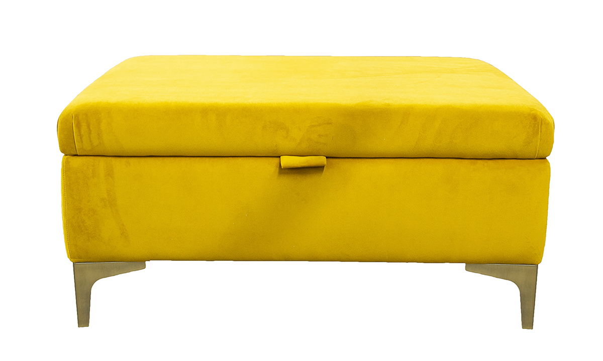 Baltimore Storage Island in Plush Turmeric, Gold Collection Fabric