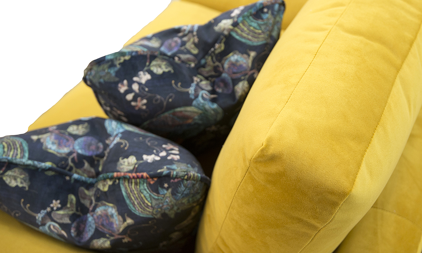 Scatter Cushion in Peacock Navy, Platinum Collection Fabric