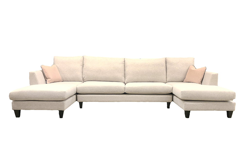 Baltimore Lounger in Luca Light Grey, Bronze Collection - 405524