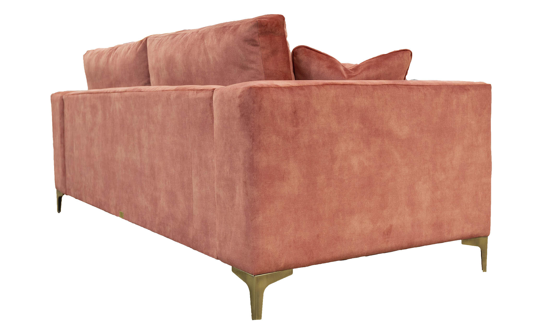 Baltimore 3 Seater Sofa in Lovely Coral, Gold Collection Fabric