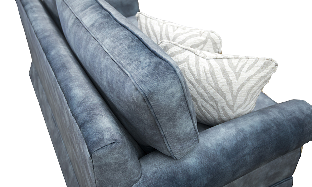 Clare 4ft6 Sofabed in Lovely Atlantic, Gold Collection Fabric