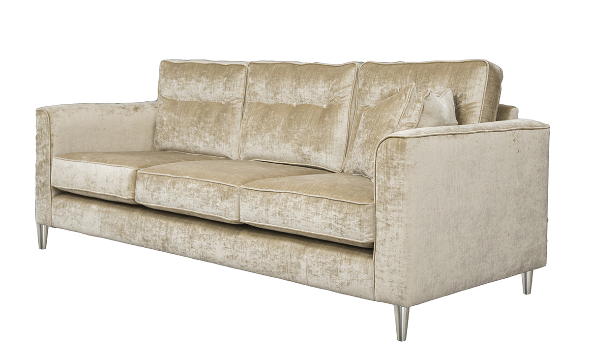 Boland 3 Seater Sofa in Edinburgh Biscuit Silver Collection