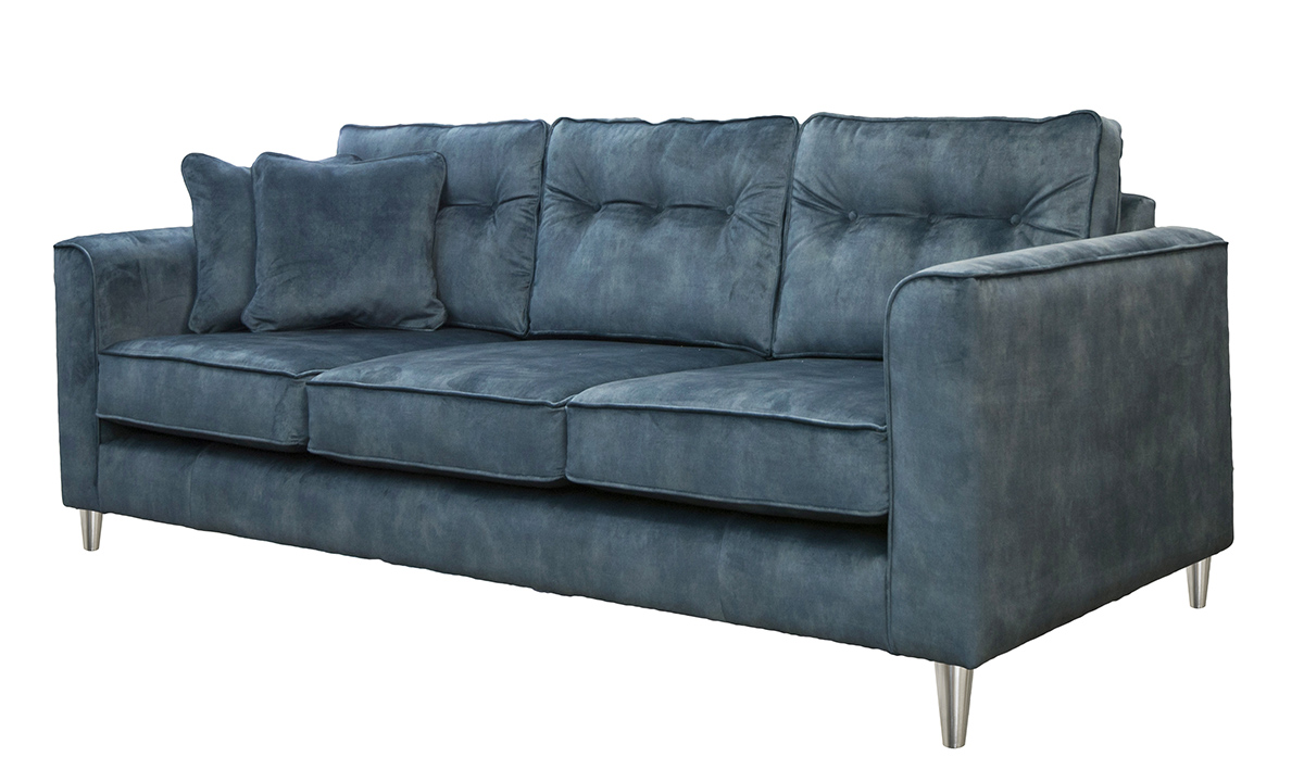 Boland 3 Seater Sofa in Lovely Atlantic, Gold Collection Fabric