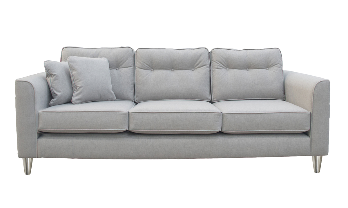 Boland Large Sofa in San Francisco Light Bronze Collection Fabric