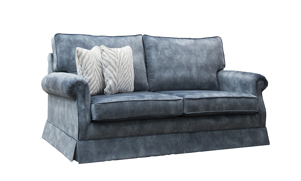 Blair 4ft6 Sofabed in Lovely Atlantic, Gold Collection Fabric