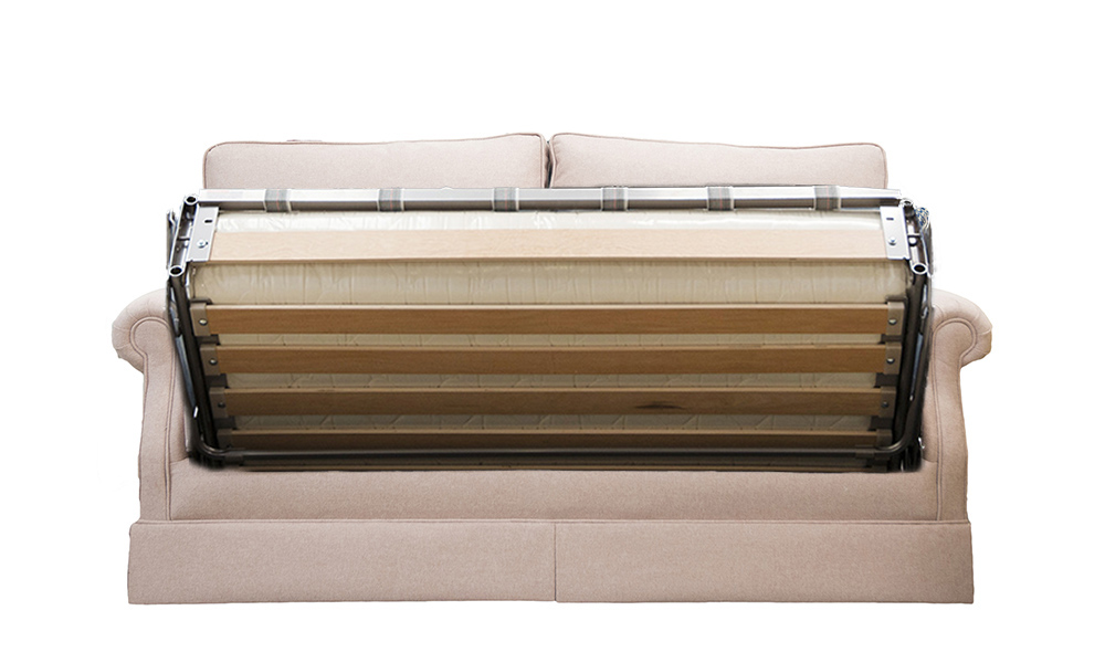 Clare 4ft6 Sofabed in Soho Blush, Silver Collection Fabric