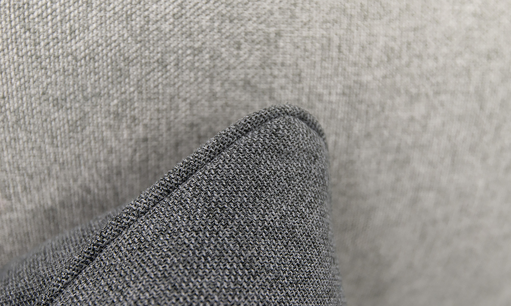 Cushion Detail in Soho Dark Grey,  Silver Collection Fabric C