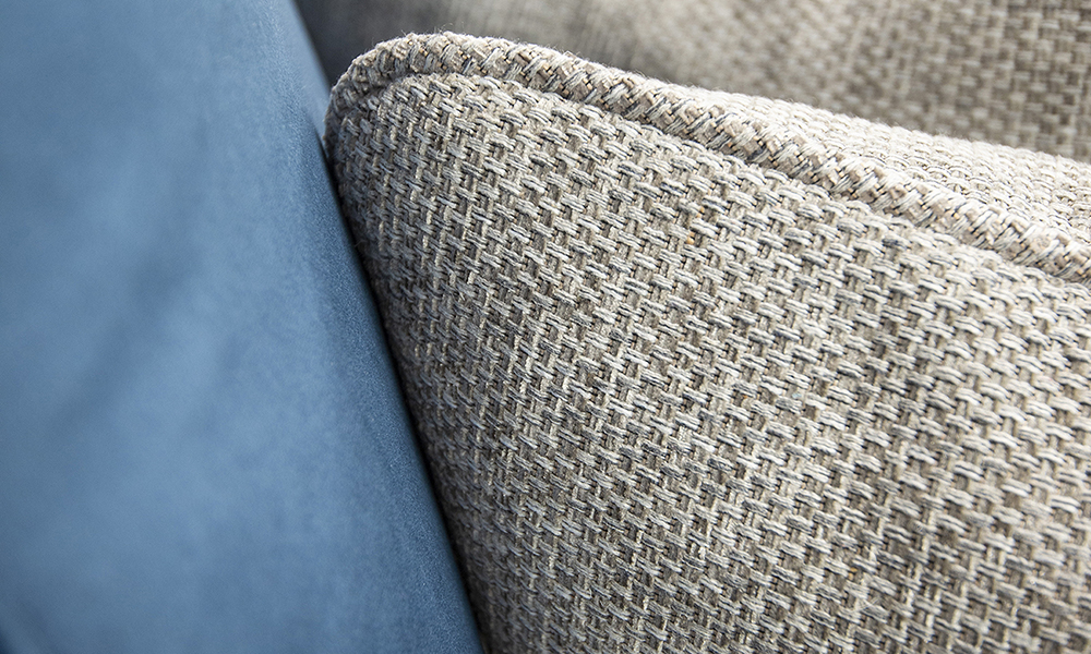 Cushion Detail in Bravo Silver, Silver Collection of Fabric