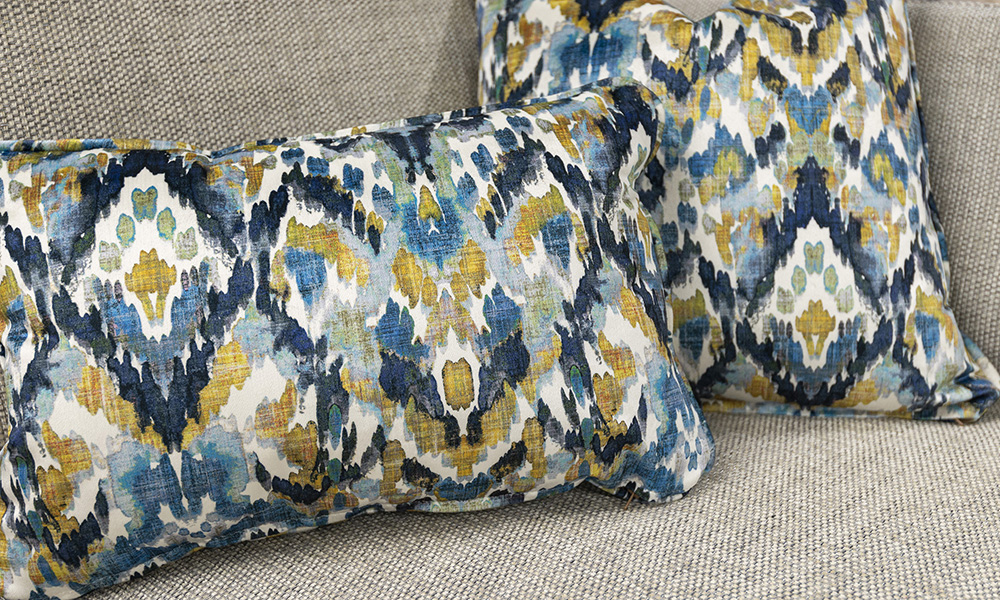 Scatter Cushions in Monet Winter, Platinium Collection Fabric