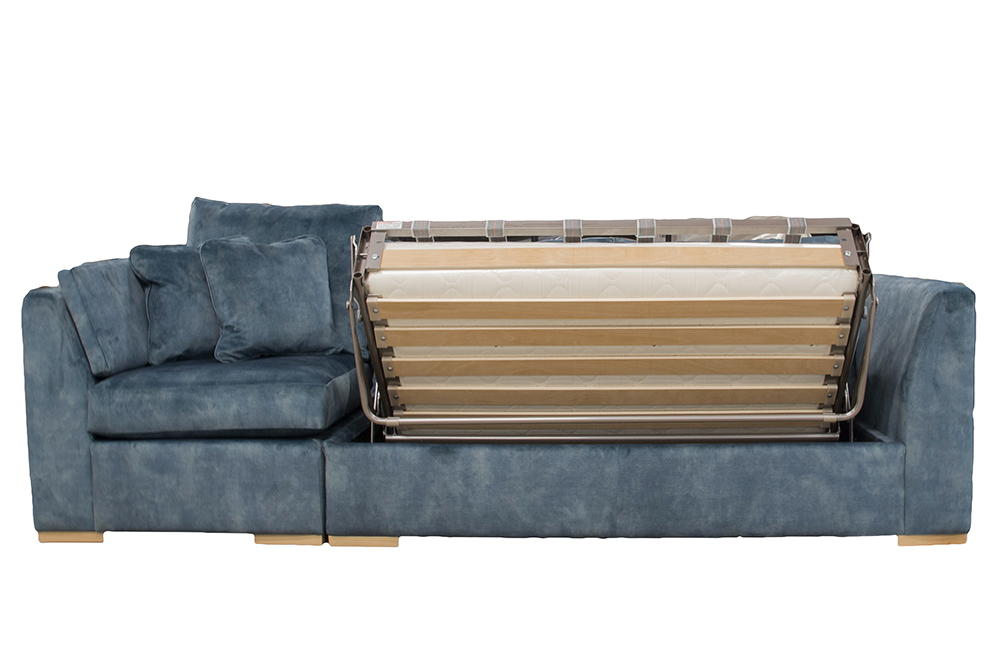 """Bespoke Klaus 4ft6"""" Sofa Bed in Lovely Jade Gold Fabric Collection"""