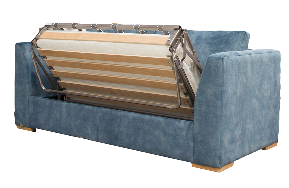 Klaus Small Sofa in Lovely Ocean Gold Fabric Collection