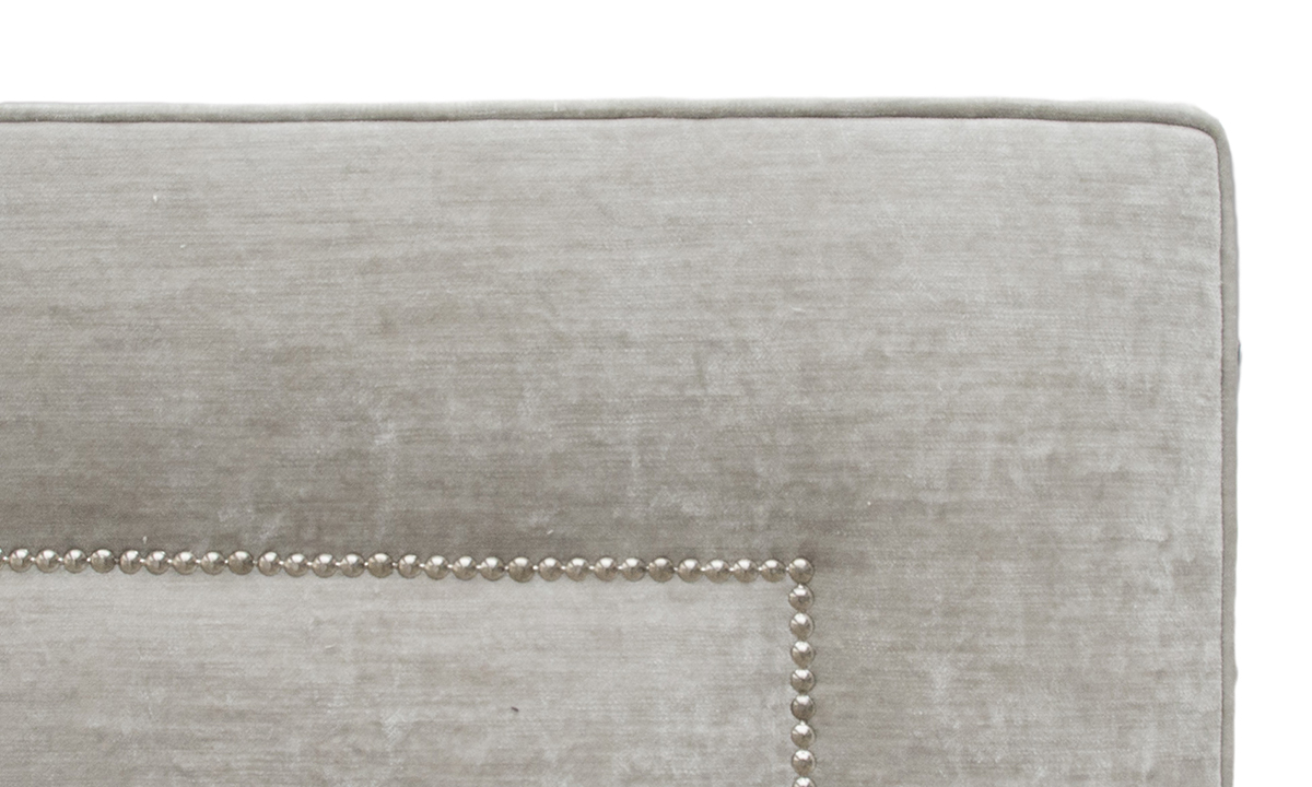 Coolmore 6ft Headboard Chrome Studding-Detail-Modena 15115 Fossil