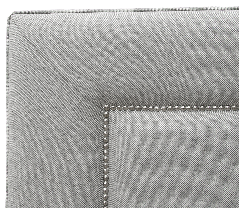 Coolmore 6ft Headboard Close Up - Warwick Tailor Wolf Plain
