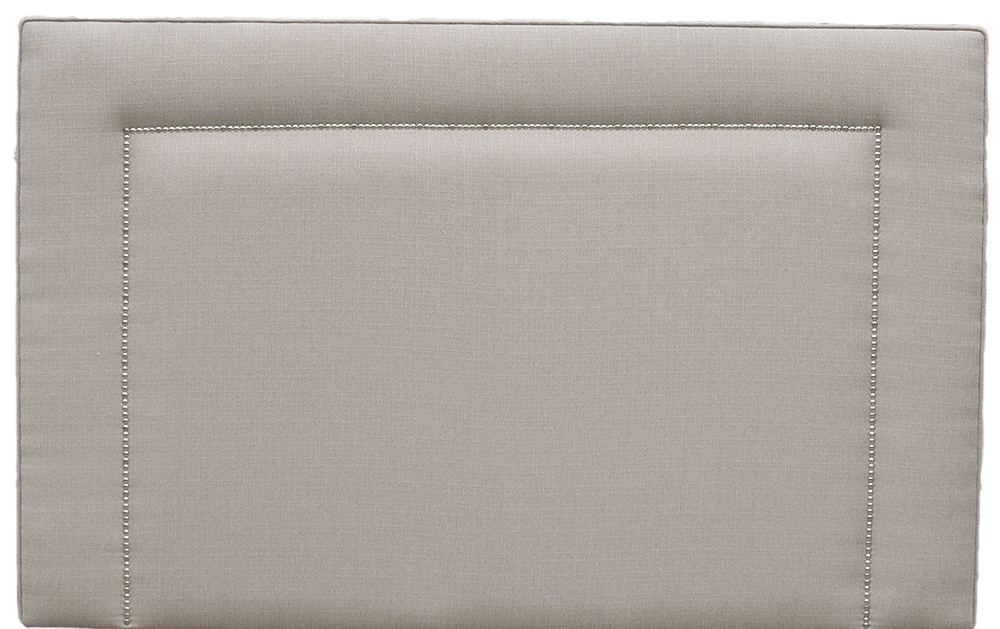 Coolmore Headboard - 5ft Chrome Stud - Aosta Linen