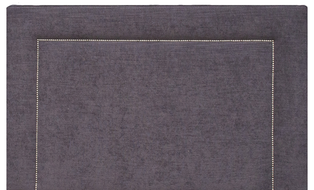 Coolmore Headboard 5ft Chrome Studding - J Brown Sena 12 Grey