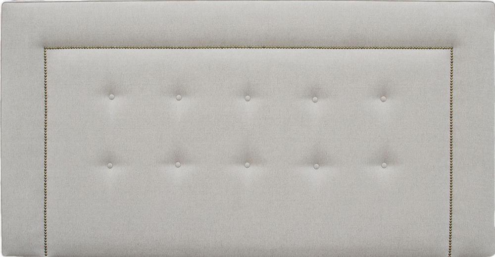 Bespoke Coolmore Headboard 6ft - Brass Studding - Loose Button