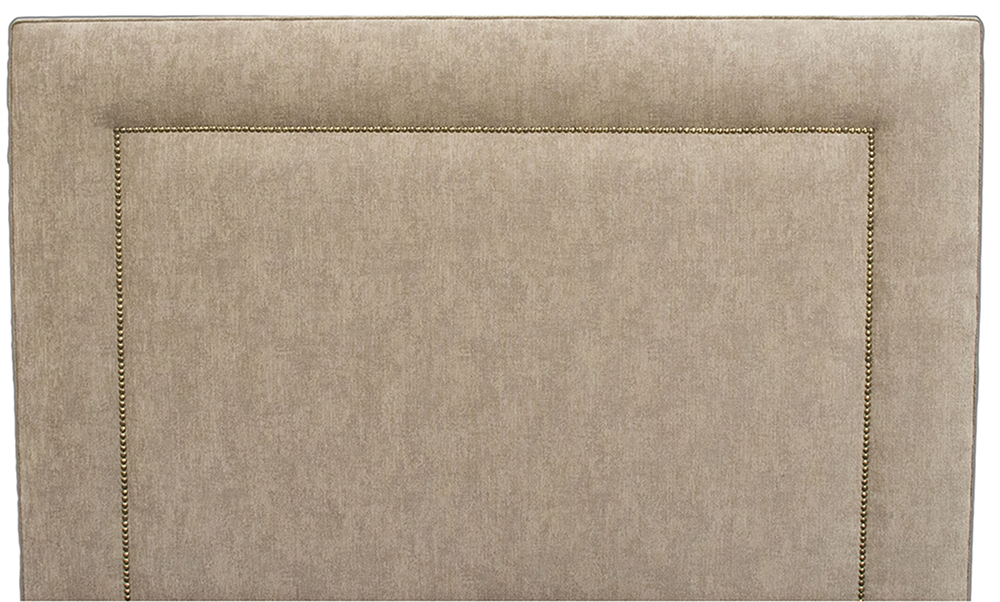 Coolmore Headboard Brass Studding - Dagano Plain Linen
