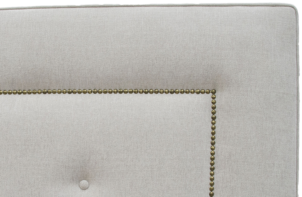 Bespoke Coolmore Headboard - Brass Studding - Loose Button