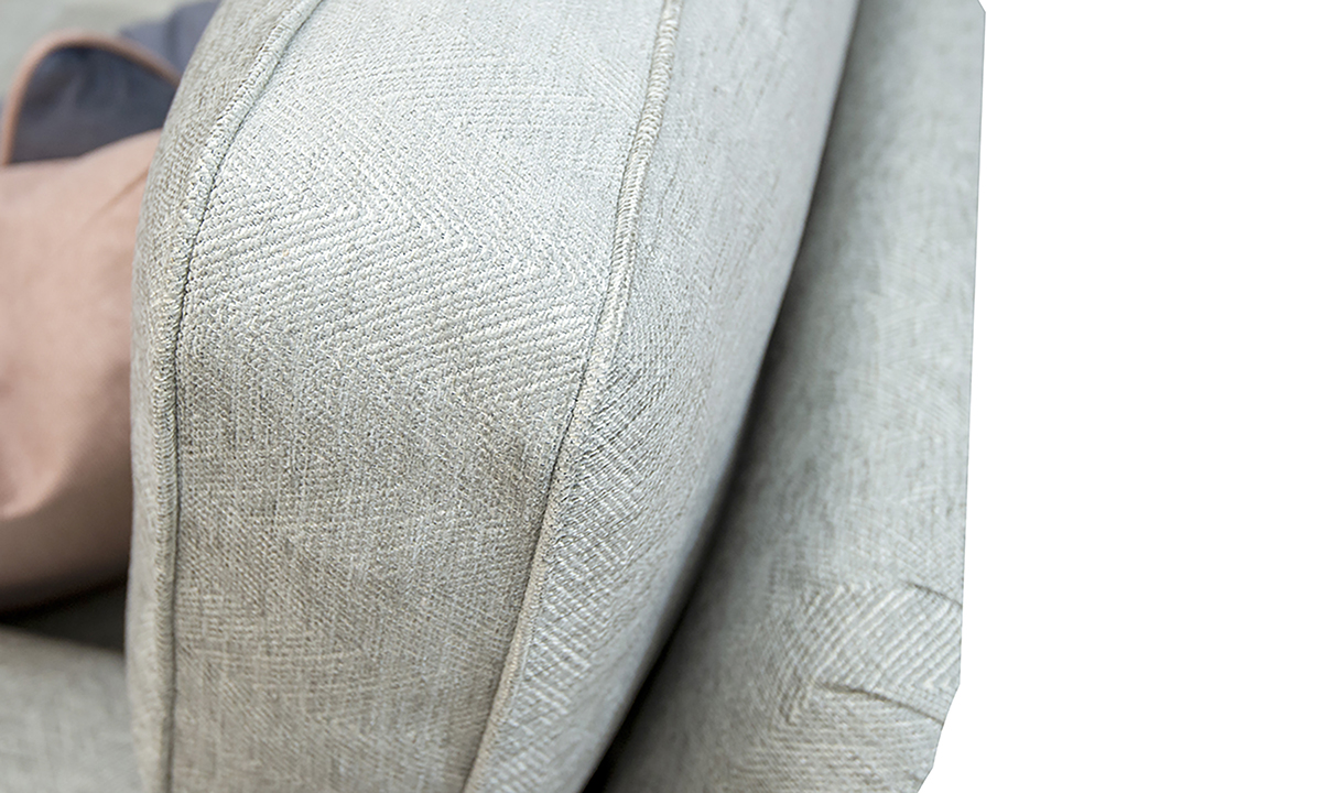 back detail in Loisa Herringbone Grey Silver Collection Fabric