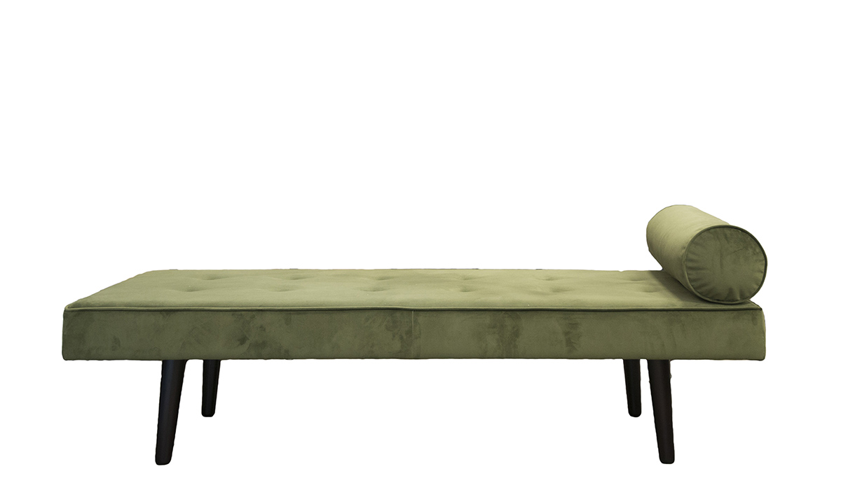 Day Bed, in Plush Vine, Silver Collection Fabric