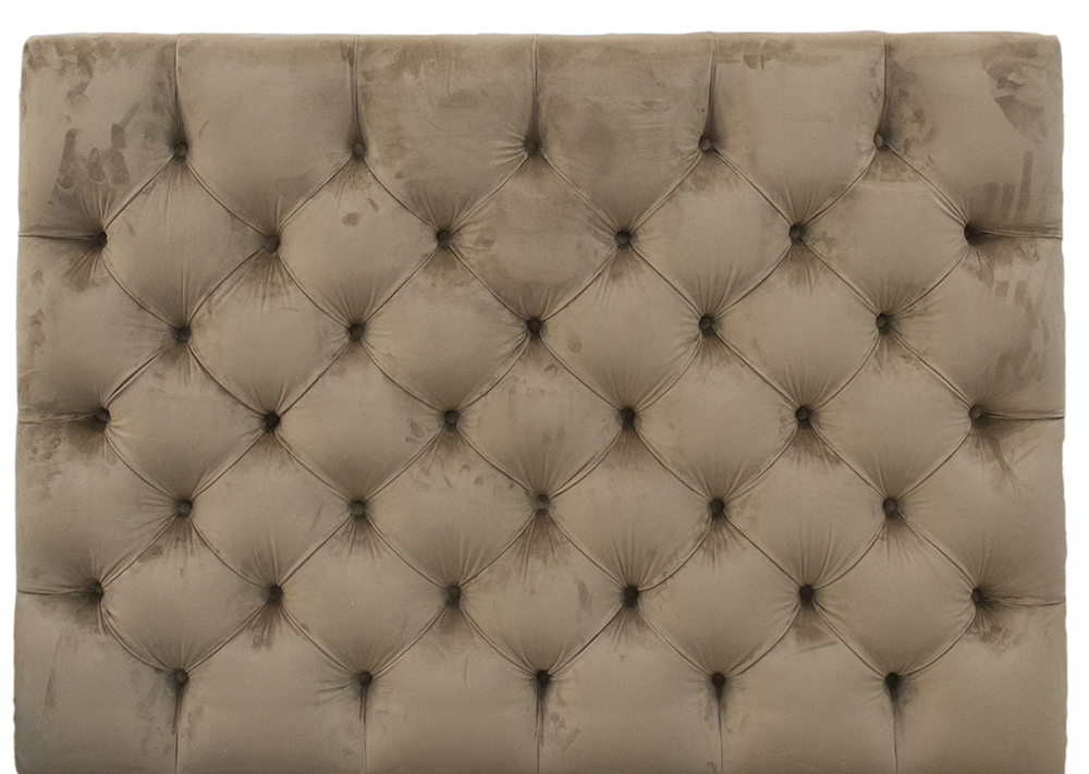 Deep Button 4ft6 Headboard - Luxor Tobacco