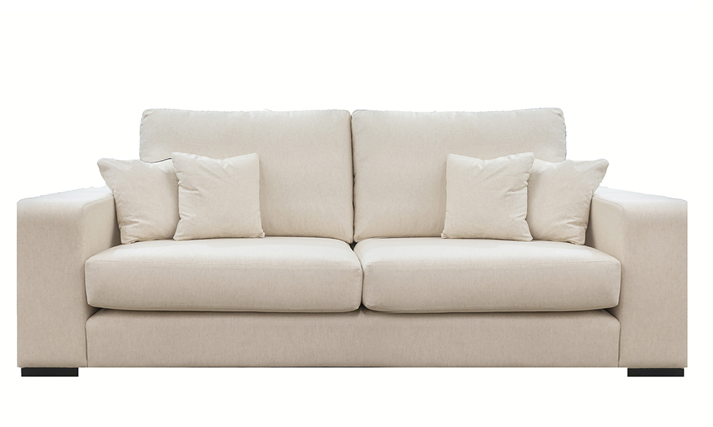 Denver 3 Seater Sofa in Jbrown Costal 030 Cotton Gold Collection Fabric