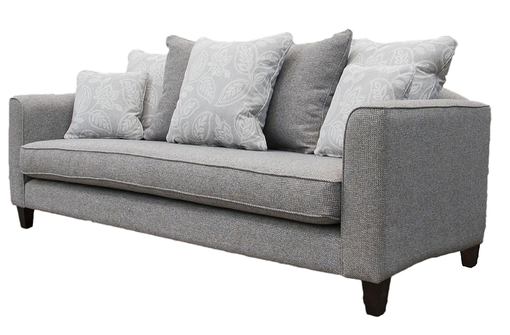 Elijah Large Sofa Side (Bespoke   Nolan Arms)   Milwaukee Grey   Bronze  Collection