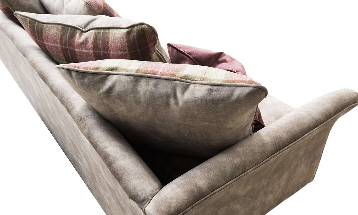 Elijah 3 Seater Sofa in Lovely Latte, Gold Collection Fabric