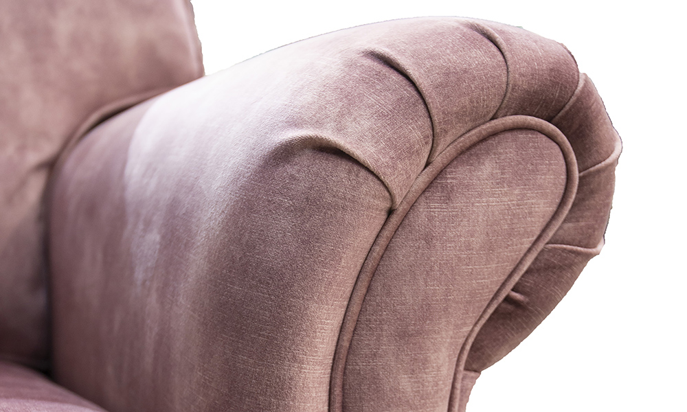 Elton-Small-Sofa-arm-detail-in-Lovey-Dusk-Gold-Collection-of-Fabrics