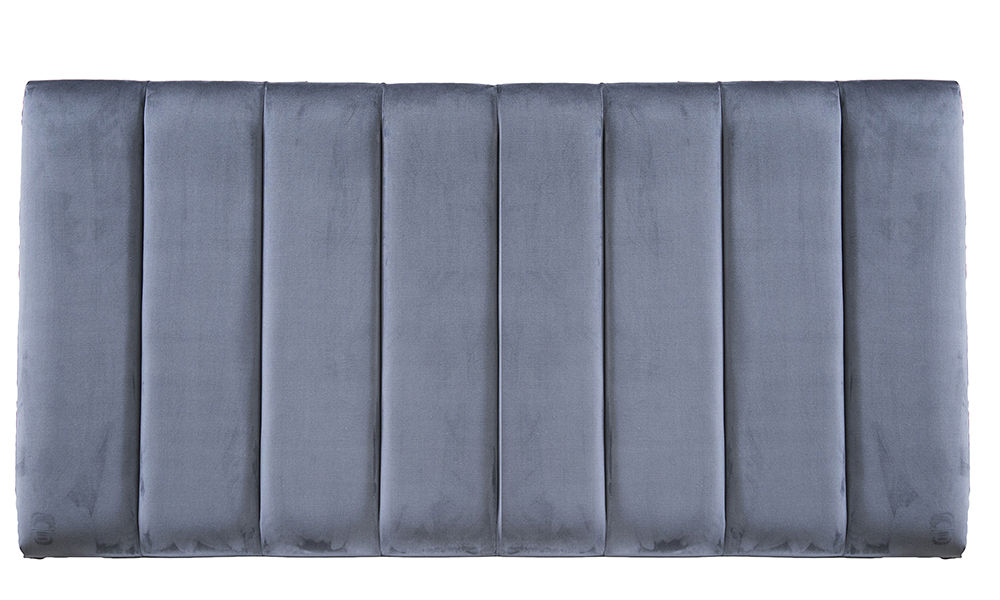6ft Florida Headboard Luxor Tempest, Silver Collection Fabric