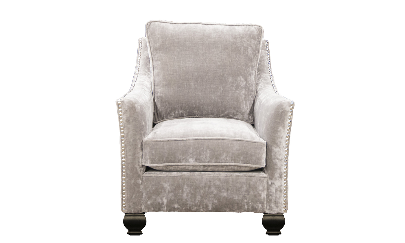 Grenoble Chair in Boulder Silver, Platinum Collection Fabric