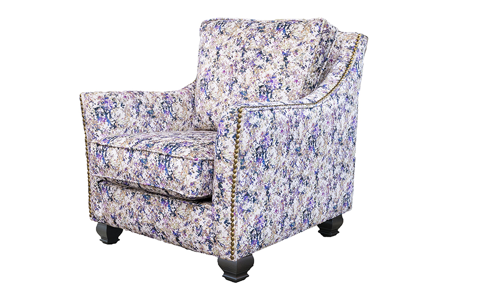 Grenoble Chair in Monet Summer, Platinium Collection Fabric - 519052