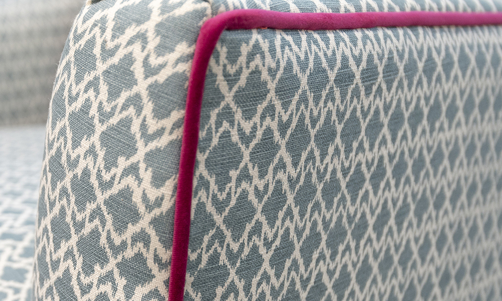 Grenoble Chair Arm Detail in Customers Own Fabric