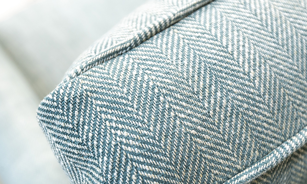 Grenoble Chair Back Cushion Detail in Customers Own Fabric
