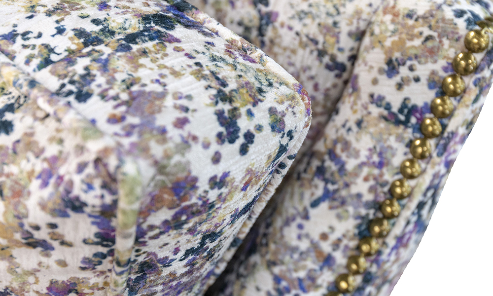 Grenoble Chair Detail in Monet Summer, Platinium Collection Fabric - 519052