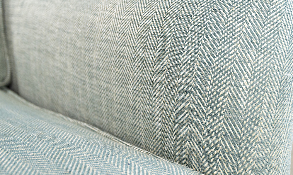 Grenoble Chair Close Up in Customers Own Fabric