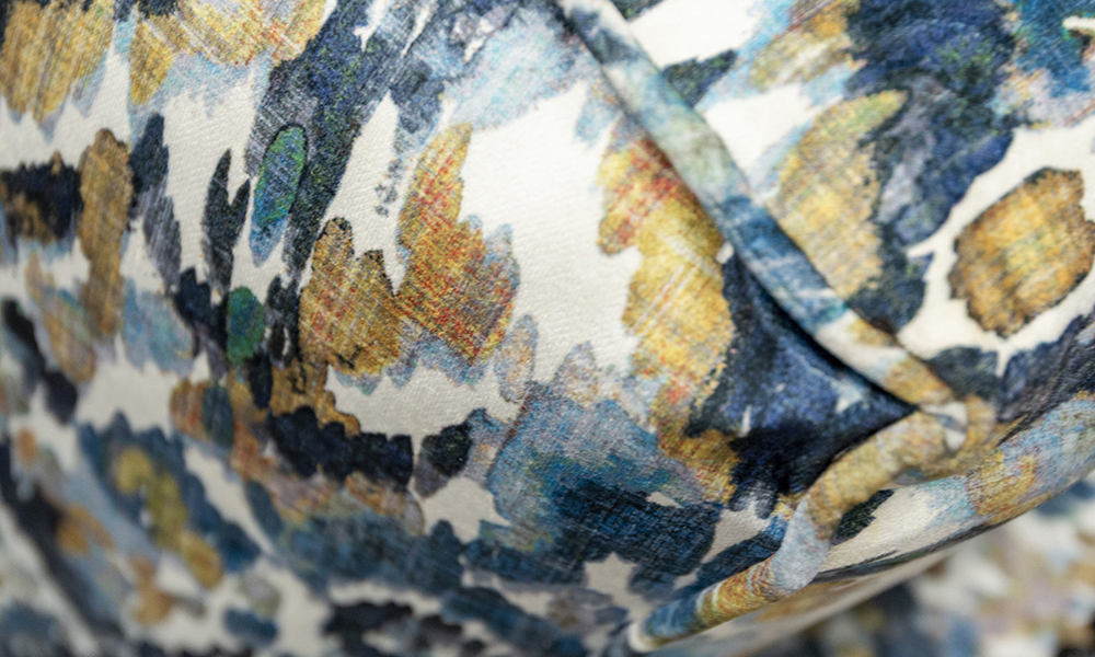 Grenoble Close Up in Monet Winter, Platinum Collection Fabric