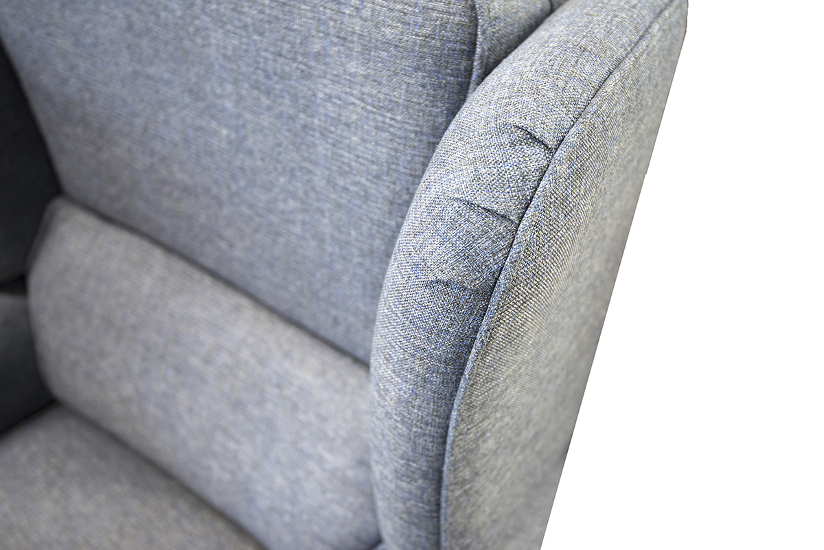 Greville Recliner Chair Detail in Ado Marine Bronze Collection Fabric