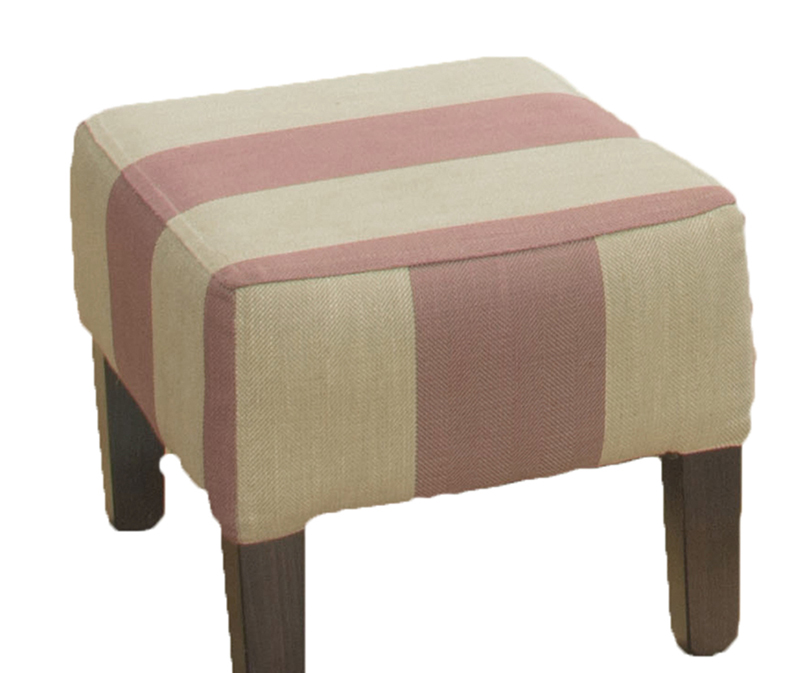 Harvard Footstool-Silver-collection