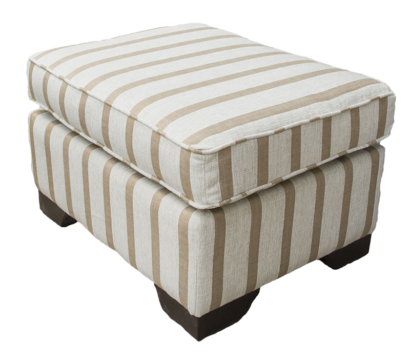 Footstool Balamir Stripe Ice Silver collection side