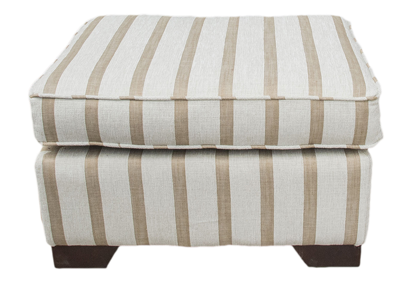 Footstool Balamir Stripe Ice Silver collection