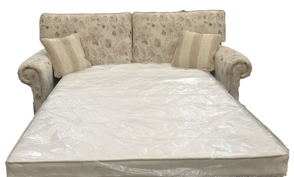 Imperial sofa bed - 4ft6%22 - silver collection fabric Open