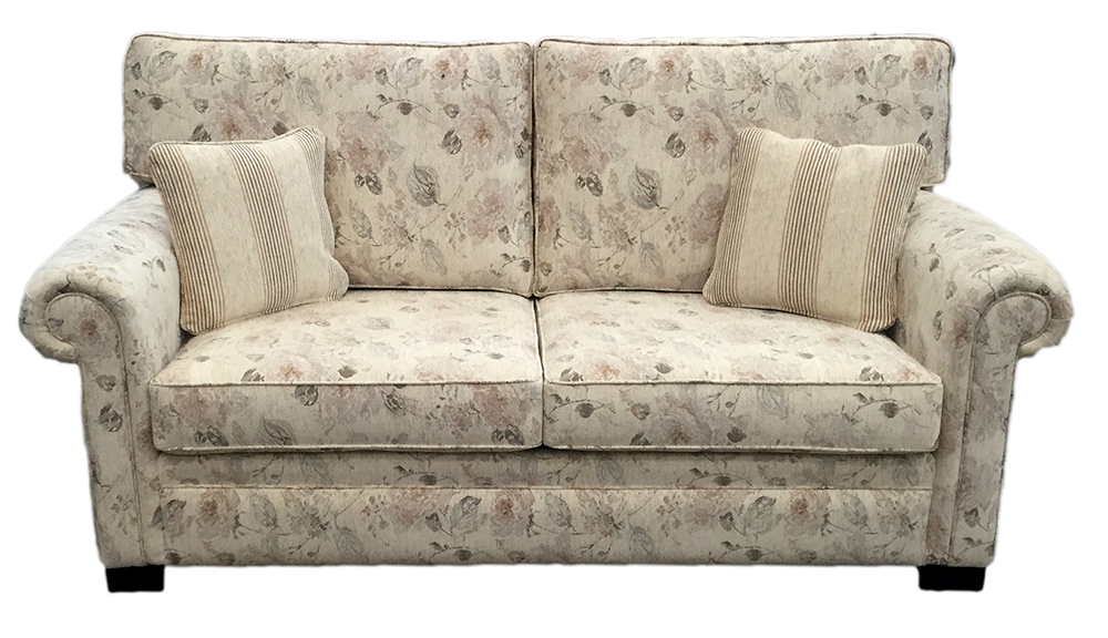 Imperial sofa bed - 4ft6%22 - silver collection fabric